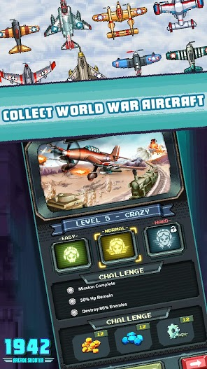 1942 Arcade Shooter APK MOD 2